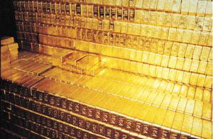 Gold bars at Fort Knox. Photo credit: Red Dog Report