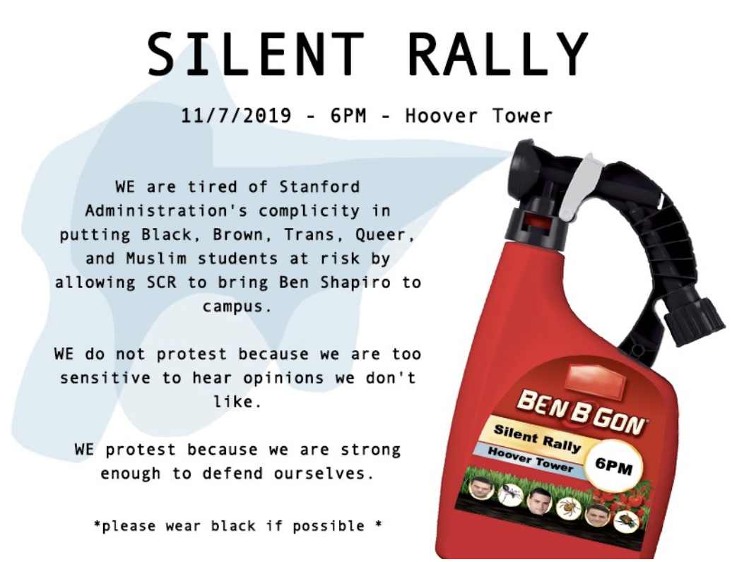 Stanford Activists Share Inane Ben Shapiro Protest Flyer