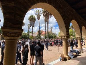 """You can't cut me"" - Stanford athletes and supporters rally to save athletic teams"